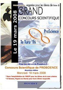 Concours de Biologie 2008 Affiche